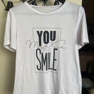 (4/$14) You Make Me Smile Cotton Tee